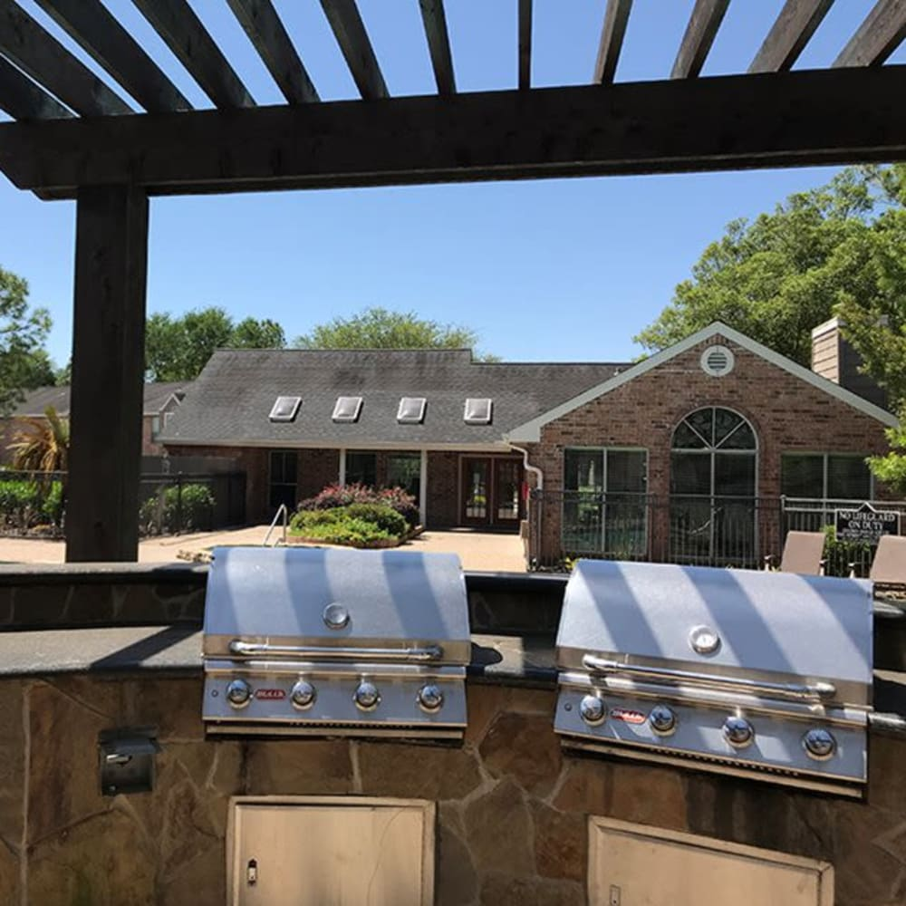 BBQ grills at Broadstone Briar Forest in Houston, Texas