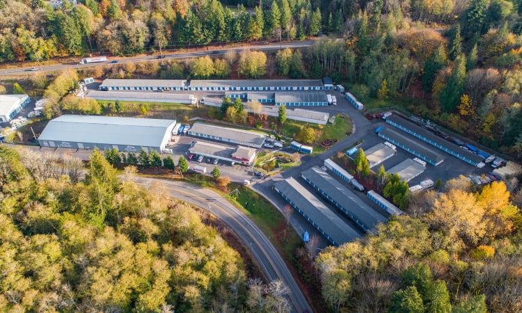 Glacier West Self Storage features exterior storage units in Belfair, Washington