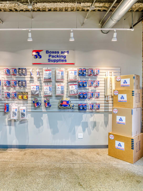 Packing supplies at Devon Self Storage in Chicago, Illinois