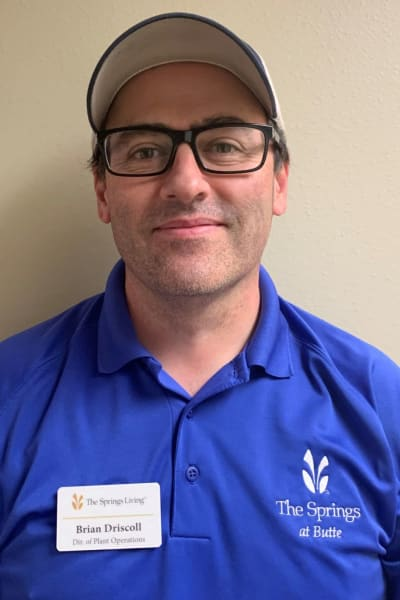 Brian Driscoll, Director of Plant Operations at The Springs at Butte in Butte, Montana