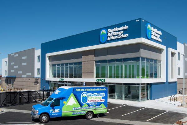 Moving truck rentals at BlueMountain Self Storage and Wine Lockers