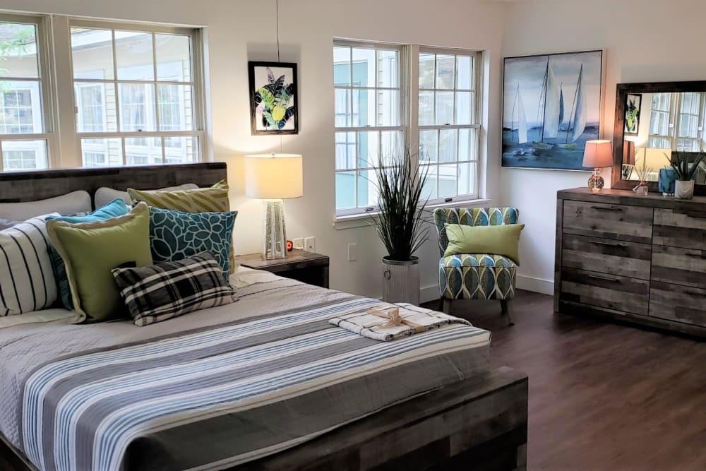 Bedroom at Senior Living Community in Tewksbury, Massachusetts