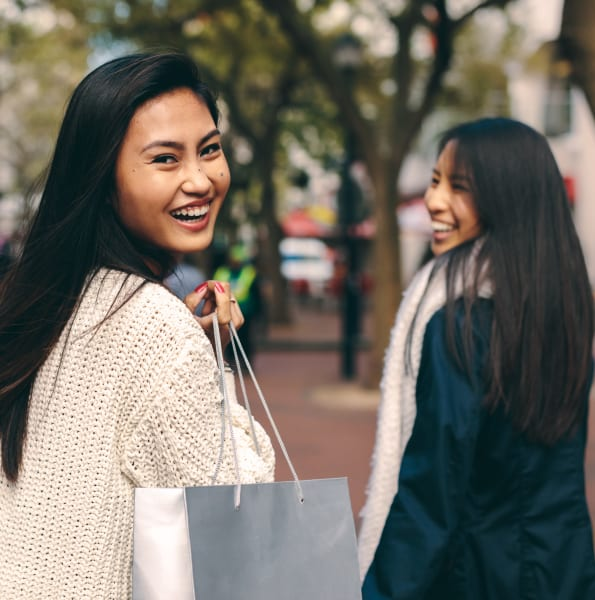 Residents shopping for clothes near The Heritage at Boca Raton in Boca Raton, Florida