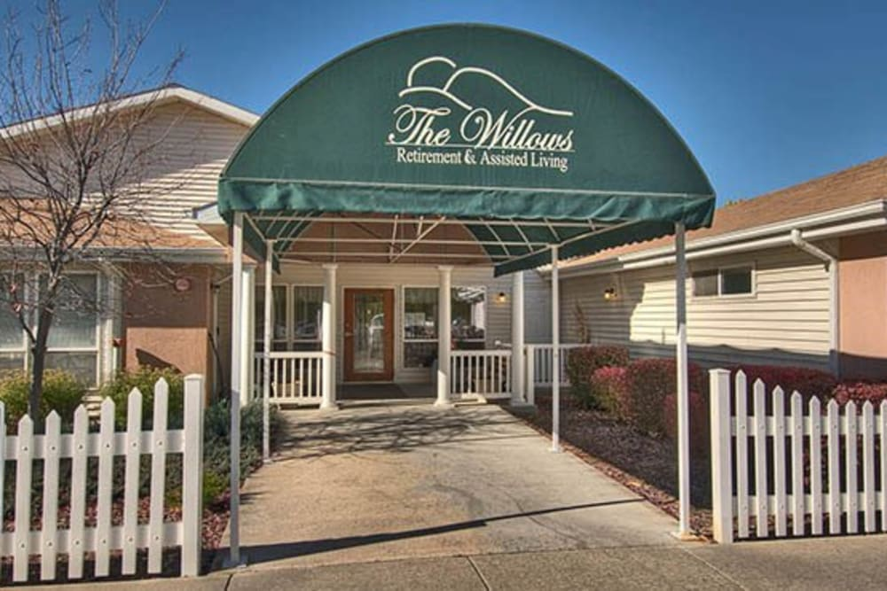 Front door at The Willows Retirement & Assisted Living in Blackfoot, Idaho