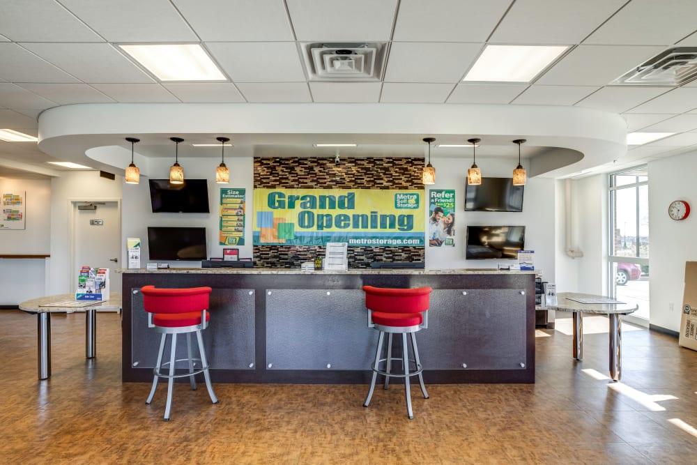 Leasing office at Metro Self Storage in Franklin