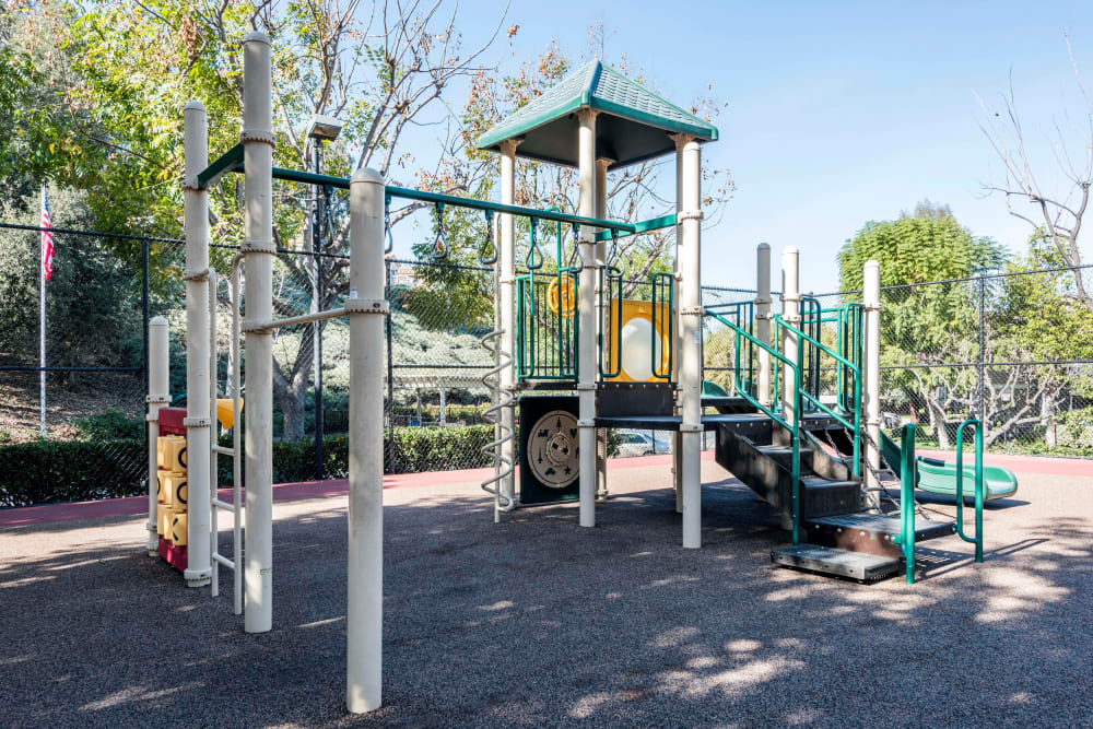 The playground at Village Oaks in Chino Hills, California