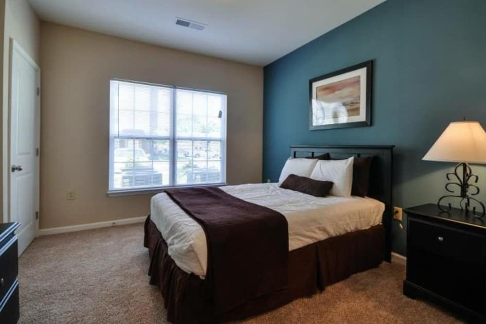 Model bedroom at Arbor Village in Summerville, South Carolina