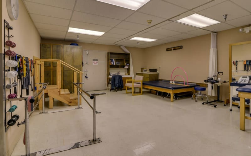 The fitness room at Birch Tree Place in Birch Tree, Missouri