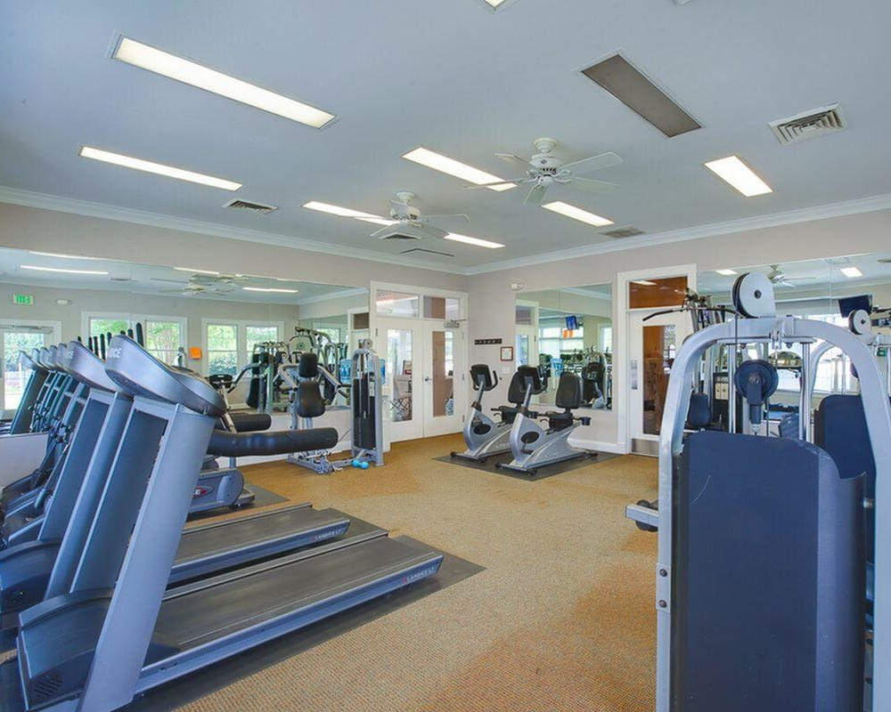 The onsite fitness center at The Springs in Parkville, Maryland