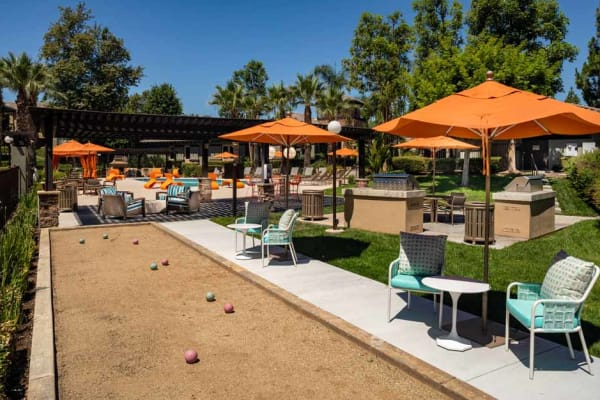 Bocce ball at Colonnade at Sycamore Highlands in Riverside, California