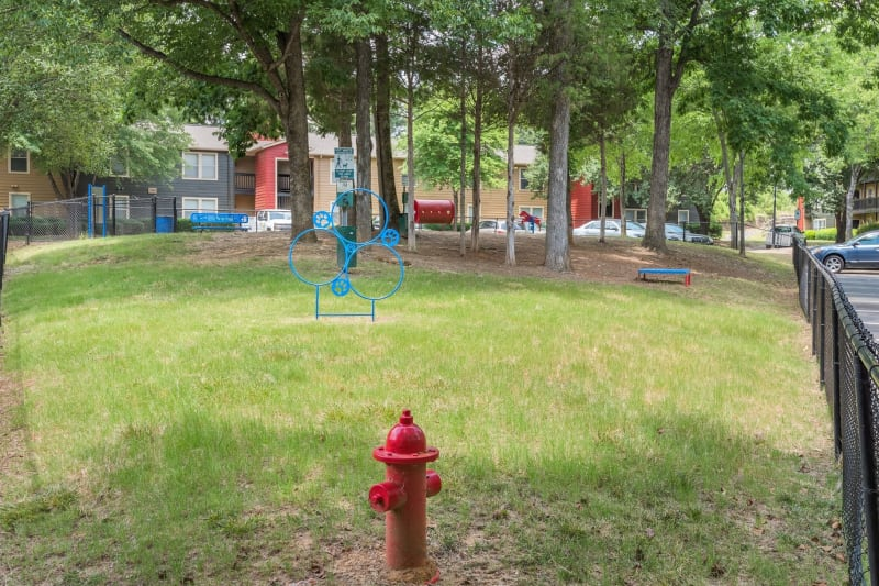 Dog park onsite for residents at Charlotte, North Carolina