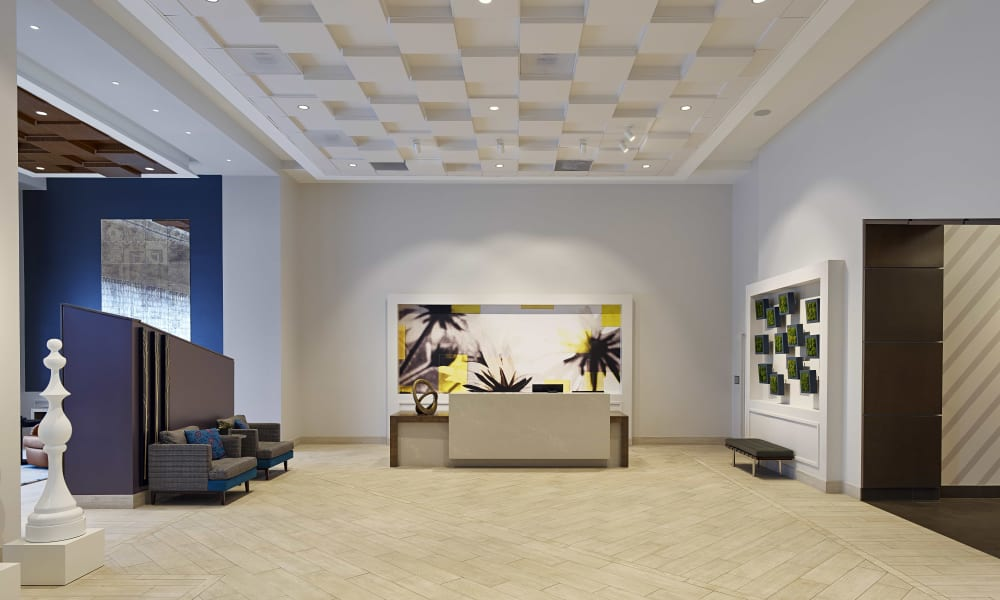 Modern-looking concierge service at Solaire 8250 Georgia in Silver Spring, Maryland