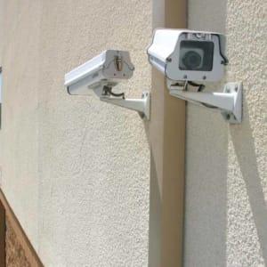 Security cameras at A-1 Self Storage in San Jose, California