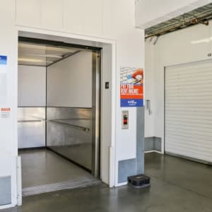 Elevator and indoor storage unit at A-1 Self Storage in North Hollywood, California