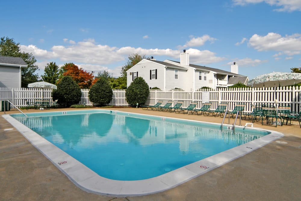 Our apartments in Easton, Maryland showcase a unique swimming pool