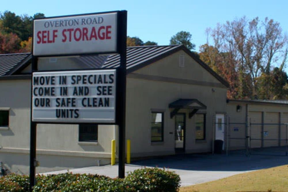 Fenced units at Overton Road Self Storage in Birmingham, Alabama