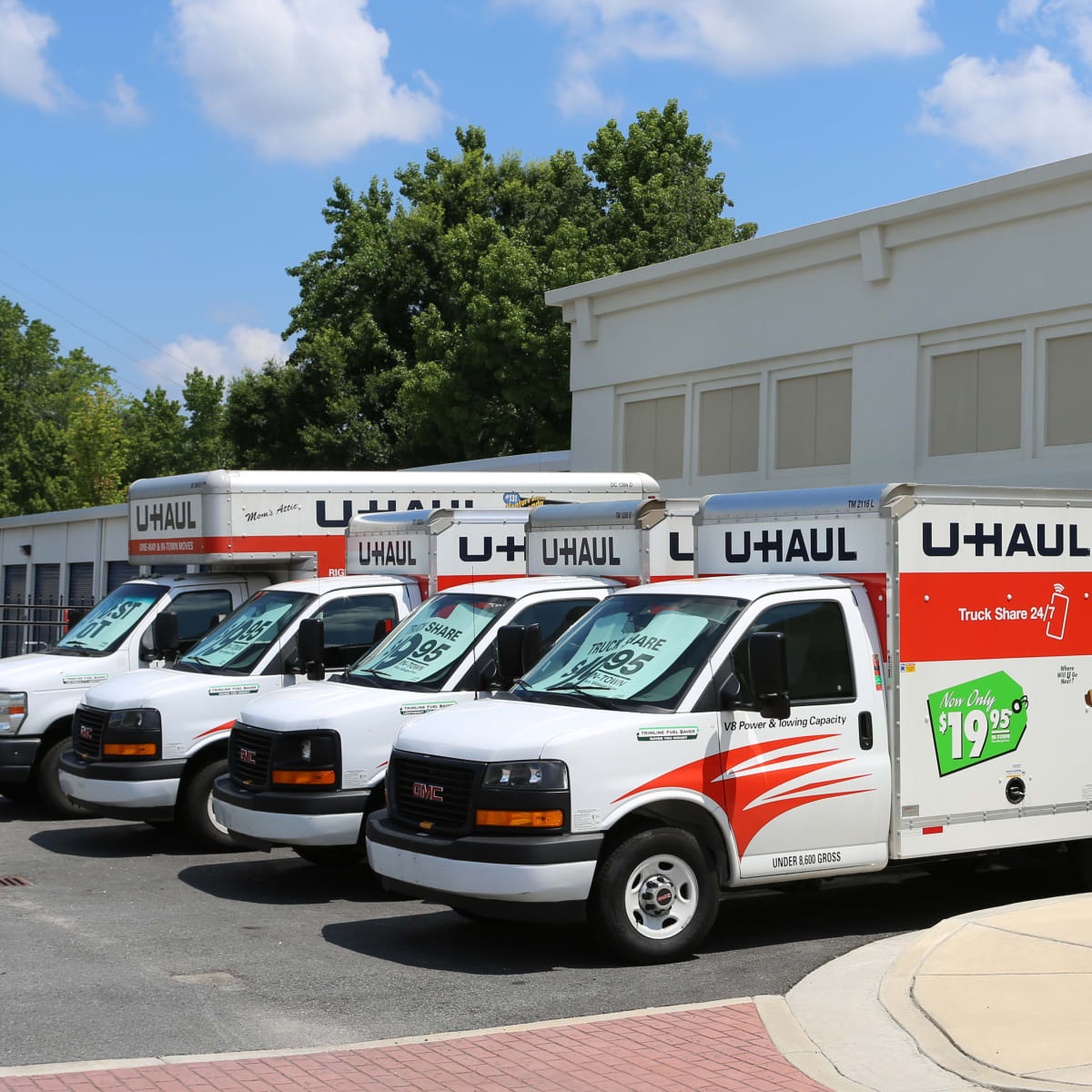 Midgard Self Storage in Greenville, South Carolina, has moving trucks for rent