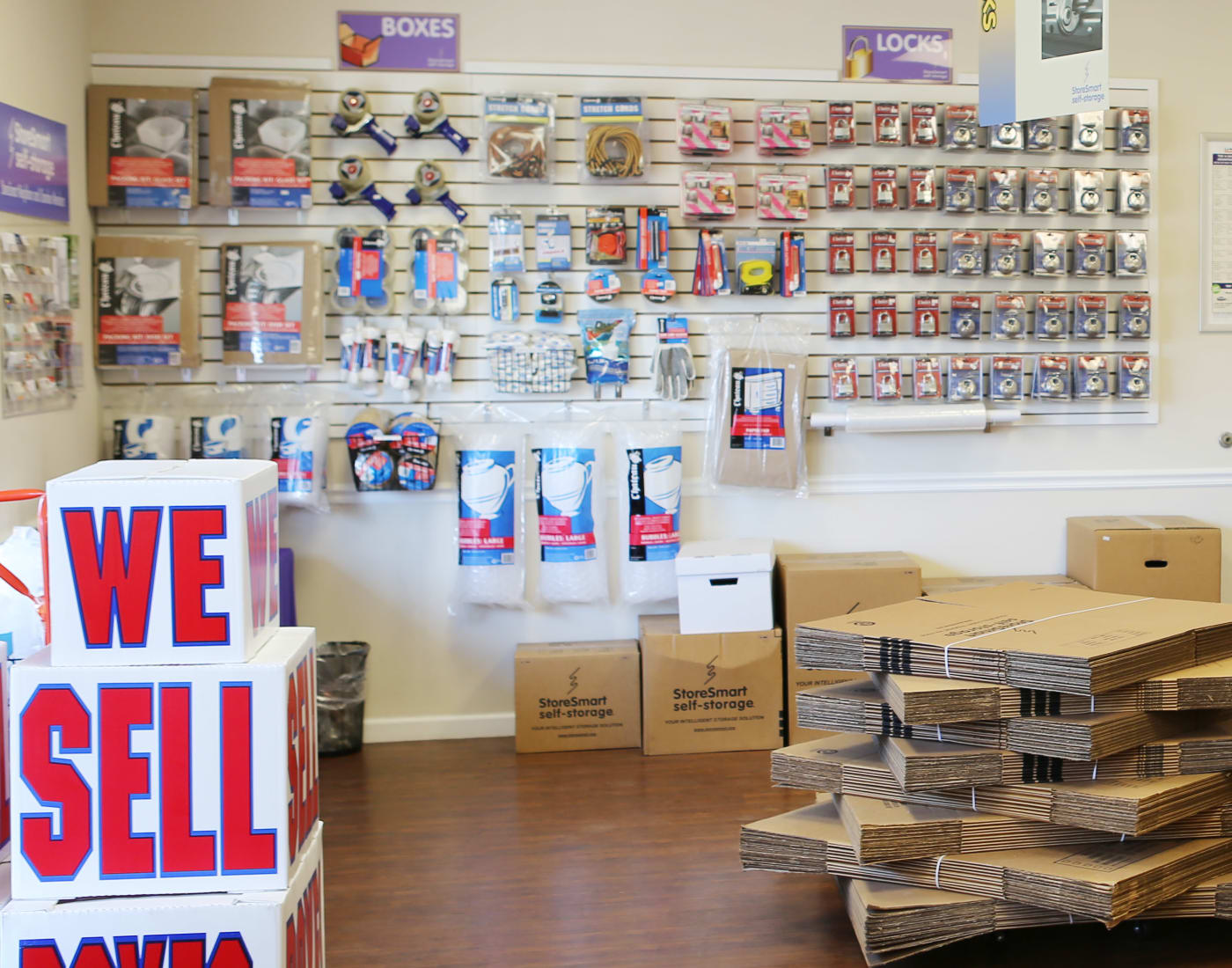 Packing and moving supplies for sale at StoreSmart Self-Storage in Summerville, South Carolina
