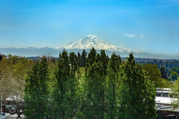 Enjoy beautiful views of Mt. Rainier from our apartments in Burien, WA