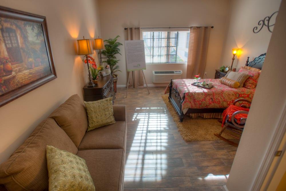 Spacious apartments at Inspired Living Hidden Lakes in Bradenton, Florida.