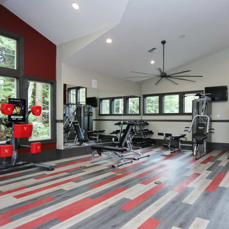 Newly Renovated Fitness Center at Wildreed Apartments