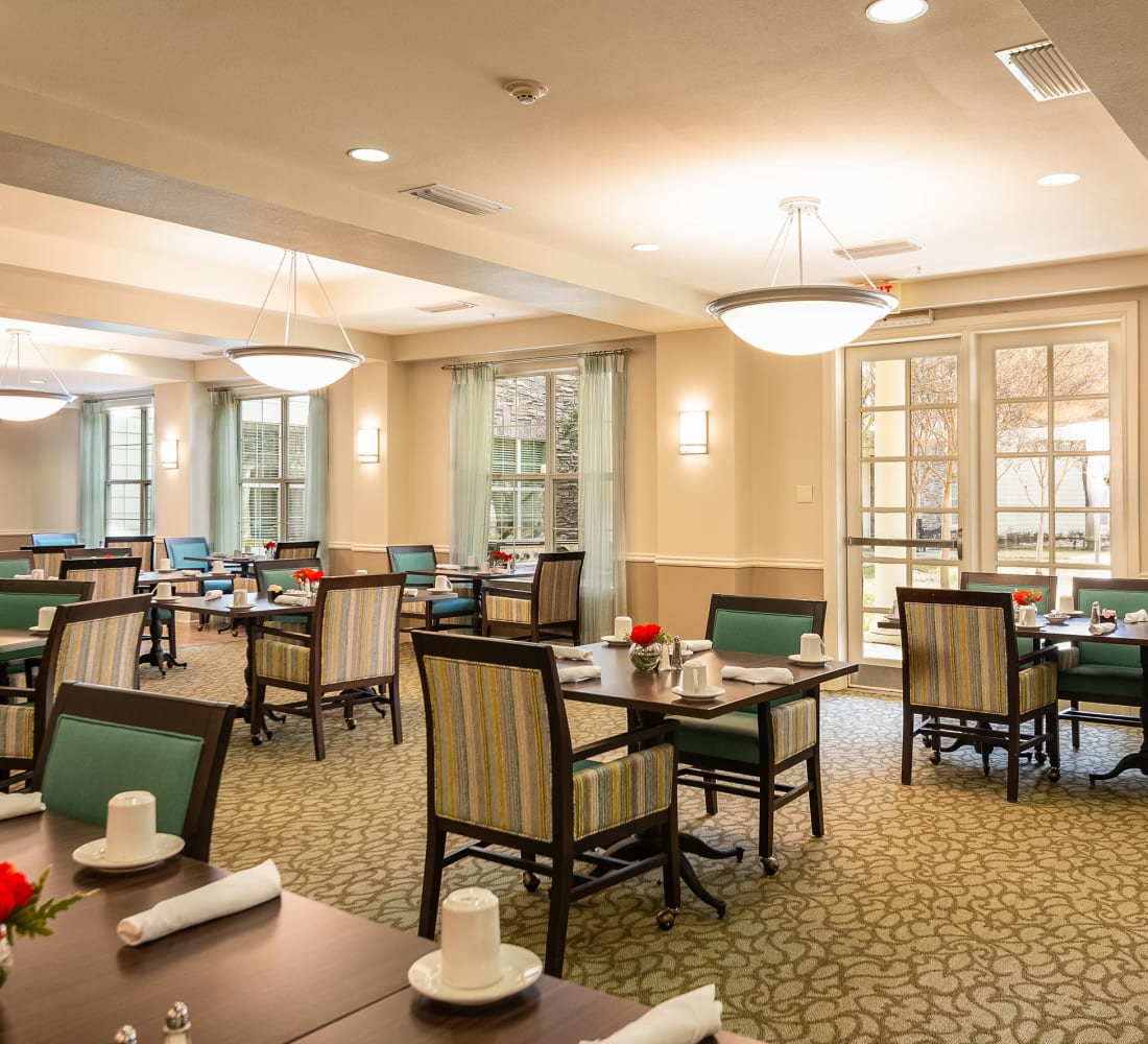 dining hall at Prestonwood Court in Plano, Texas
