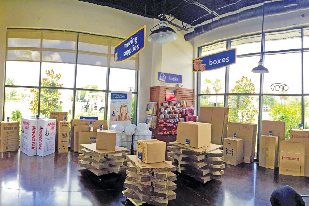 Boxes and packing supplies for sale at Compass Self Storage in Ponte Vedra Beach, FL