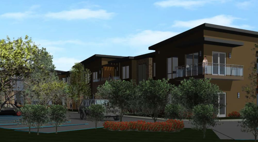 The back view of Carefield Living Monarch Dunes in Nipomo, California.