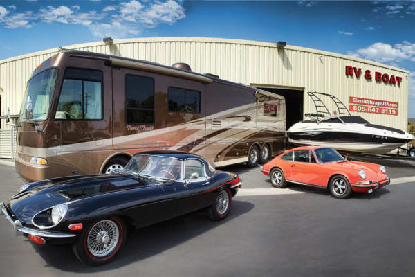 Trucks, cars and boats at California Classic Storage