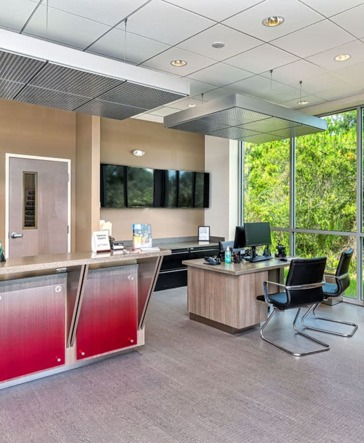 Interior of the leasing office at StorQuest Express - Self Service Storage in Palm Coast, Florida
