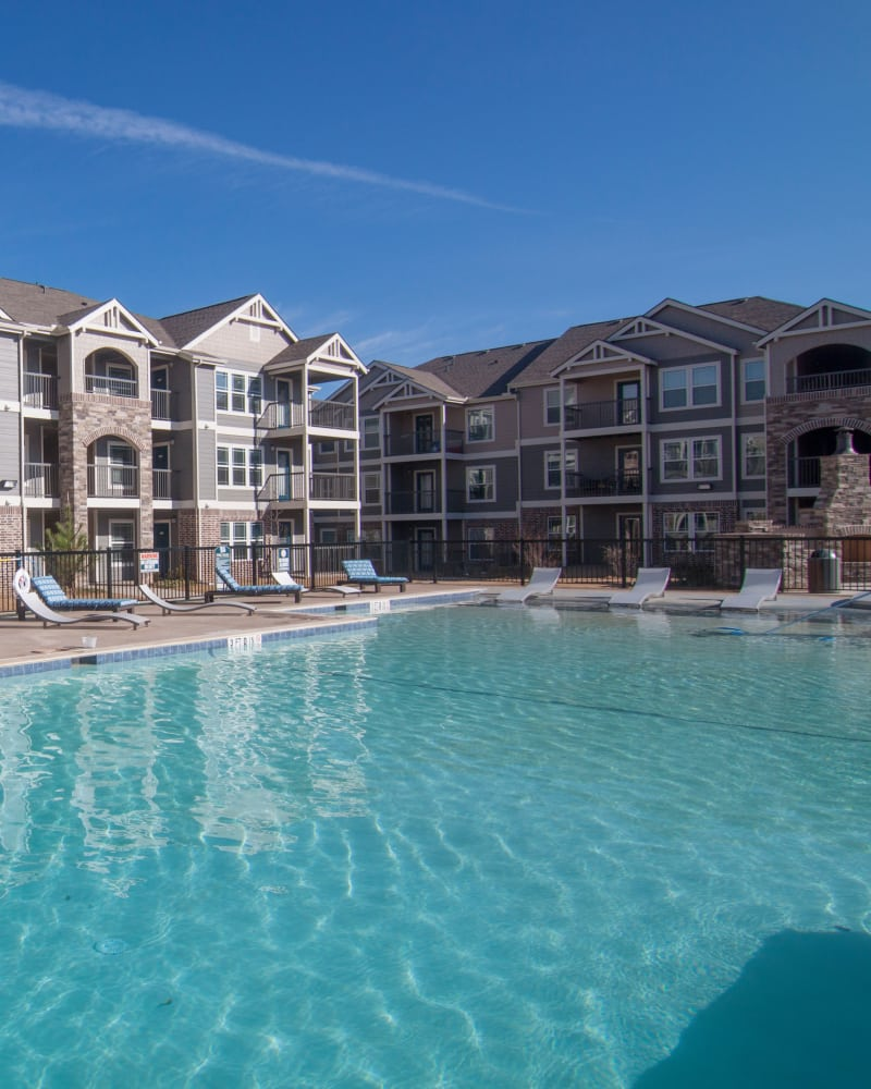Resort style pool at Scissortail Crossing Apartments in Broken Arrow, Oklahoma