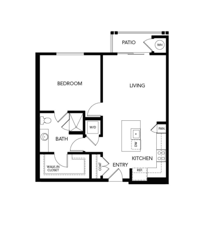 1 Bedroom A2a: 850 sq. ft. at Avenida Cool Springs in Franklin