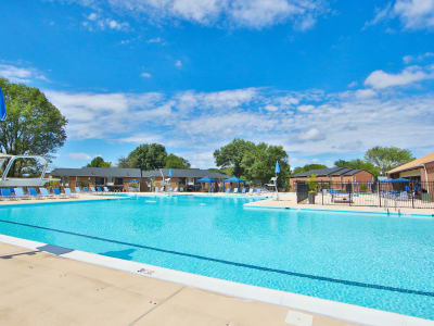 Luxurious swimming pool awaits you at Carriage Hill Apartment Homes in Randallstown, Maryland