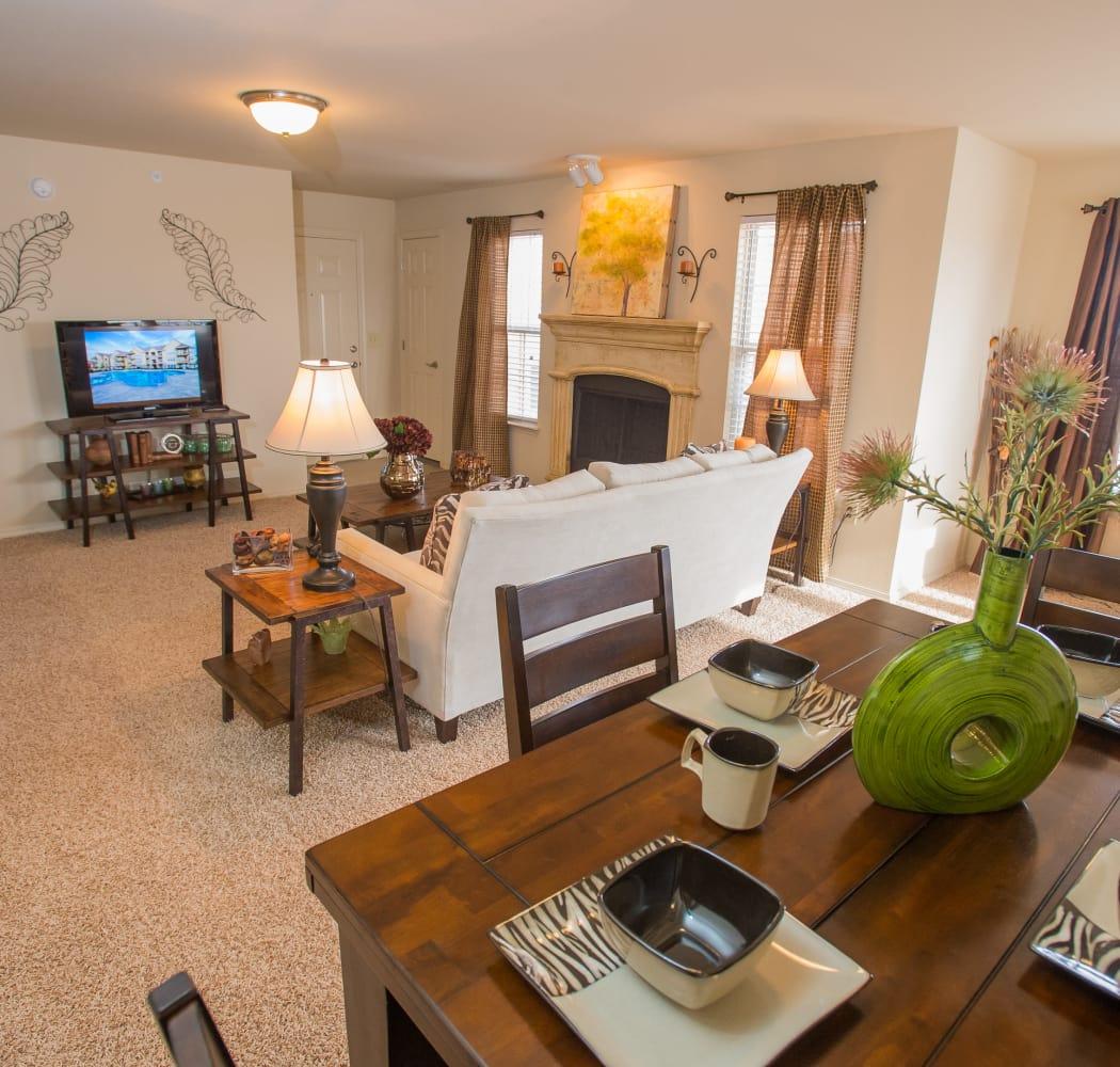 Inside model apartment at Park at Tuscany in Oklahoma City, Oklahoma