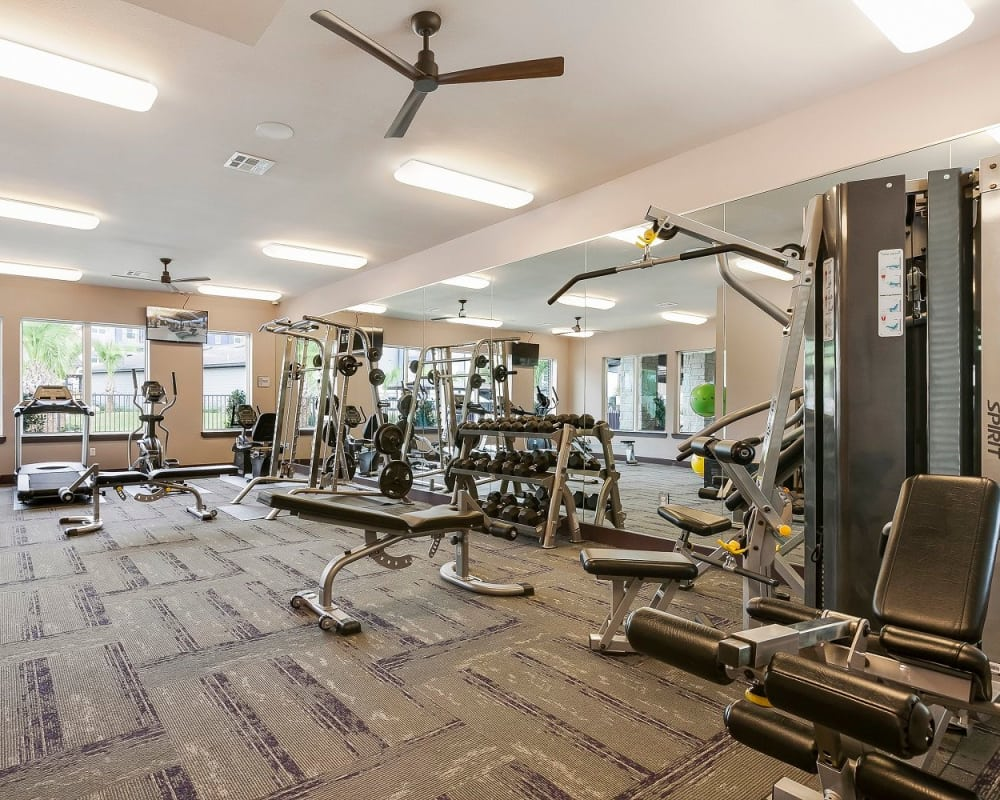 Wonderful fitness center at Plum Creek Vue in Kyle, Texas