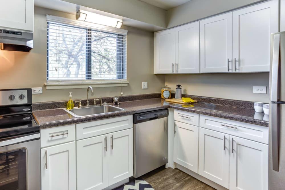 Our apartments in Wheaton, Illinois showcase a spacious kitchen