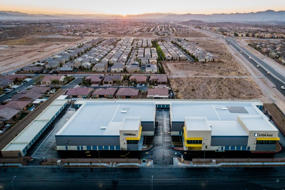 Aerial image of Golden State Storage - Blue Diamond facility in Las Vegas, NV