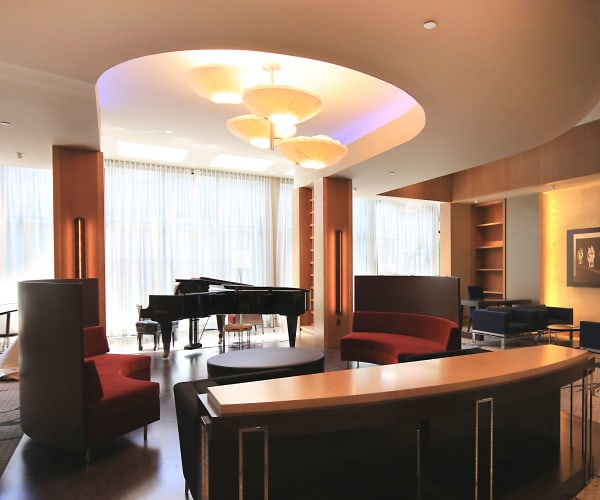 Beautiful piano in entryway at All Seasons Birmingham in Birmingham, Michigan