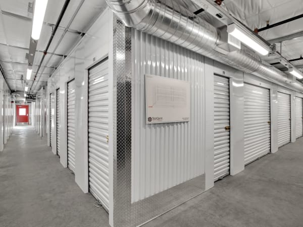 Hallway of units at StorQuest Self Storage in Bermuda Dunes, California