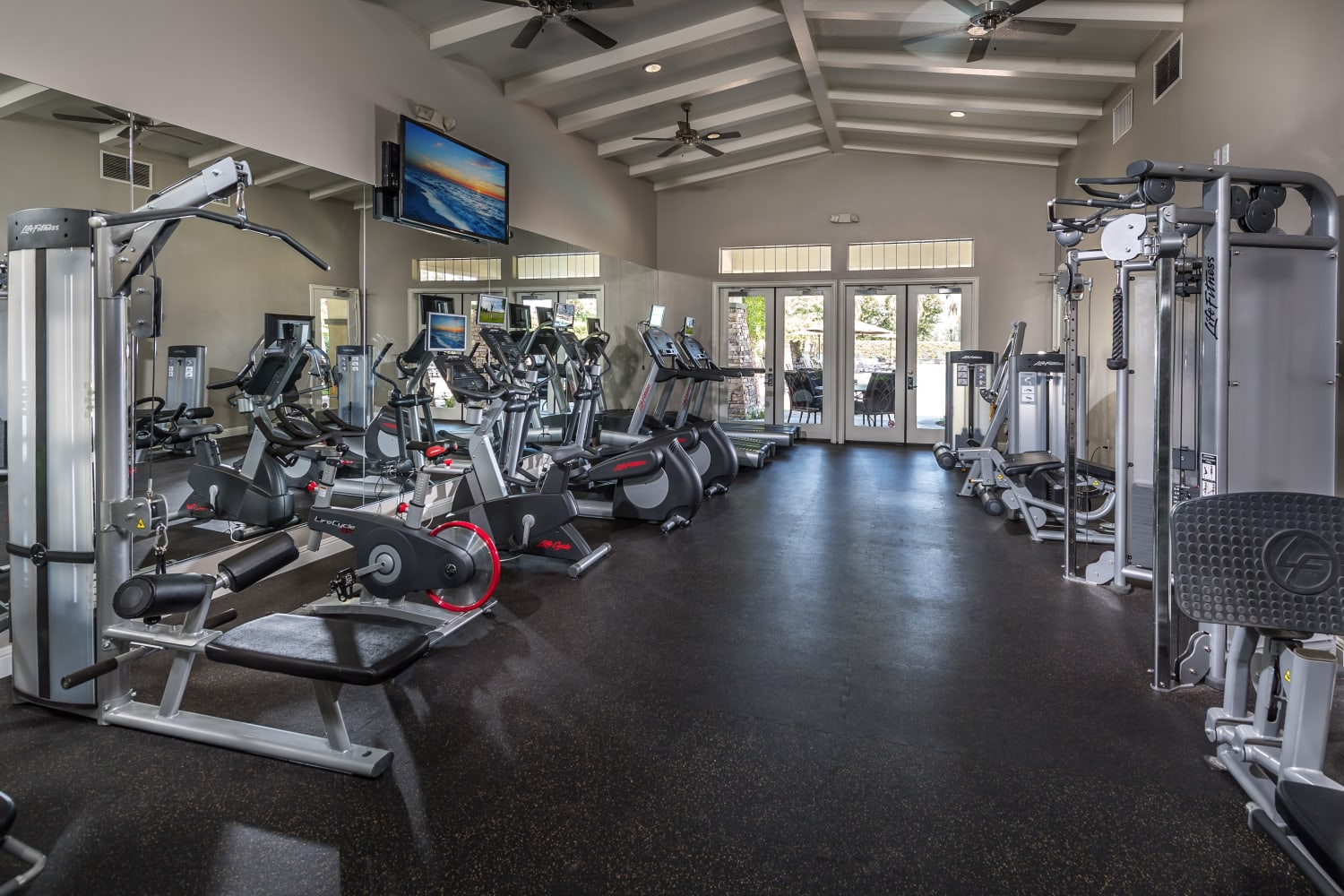 Fitness center at Camino Real in Rancho Cucamonga, California