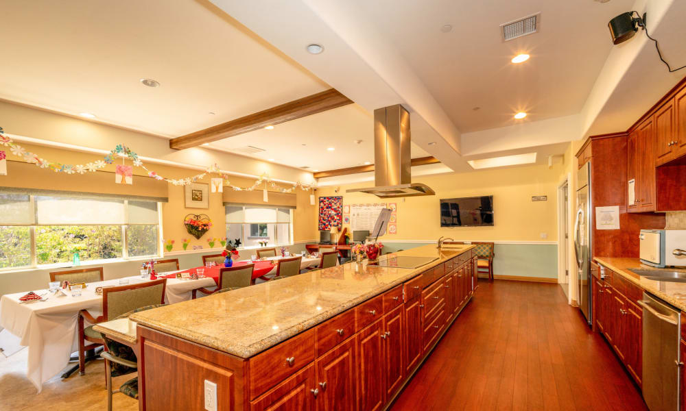 Family dining and event room at Vista Gardens in Vista, California