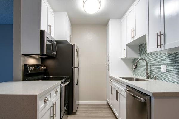 Updated kitchen at Avana La Jolla Apartments in San Diego