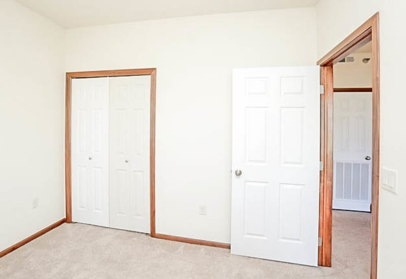 Guest bedroom at Johnston Heights in Johnston, Iowa