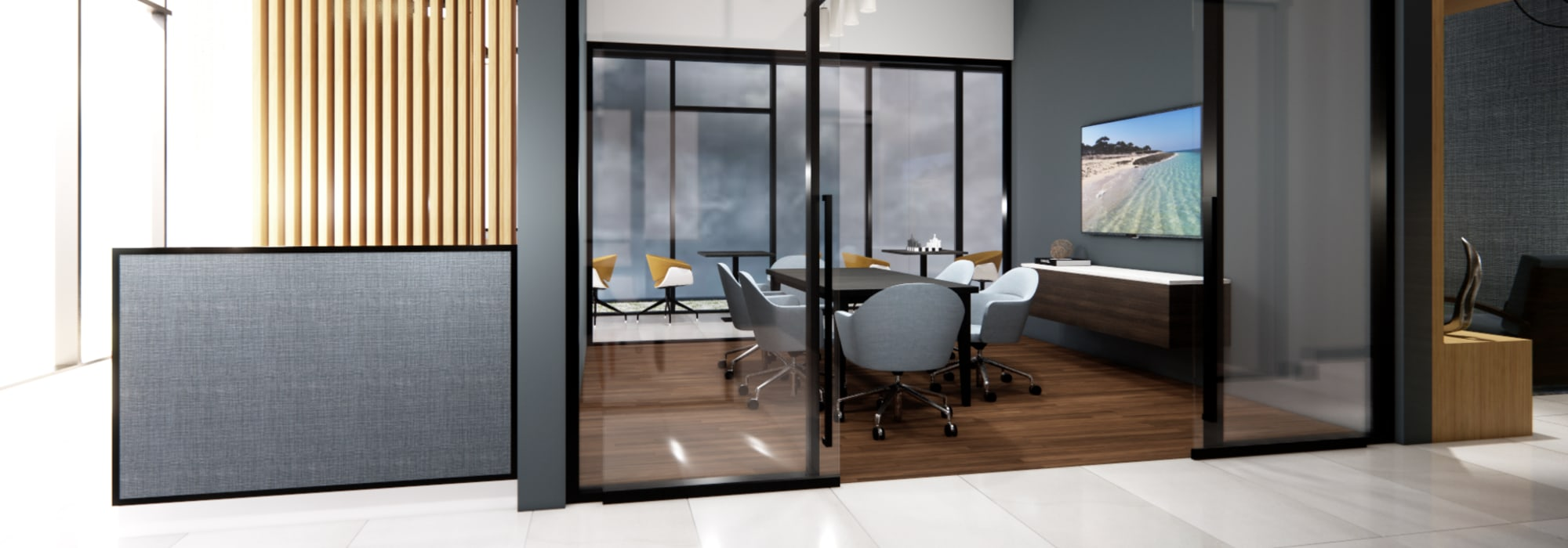 Rendering of co-working area at The Piedmont in Tempe, Arizona