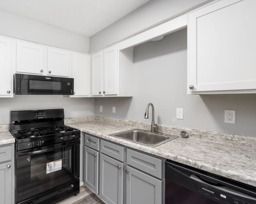 Updated appliances in model home at Hidden Acres East in Columbus, Ohio