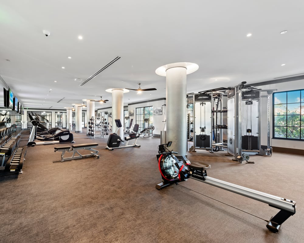 Awesome fitness center with everything you could need at 6600 Main in Miami Lakes, Florida