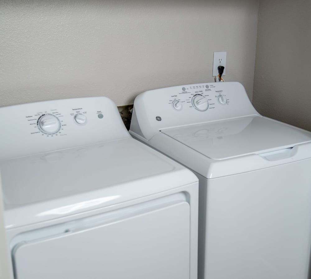 In-house washer and dryer at Shaliko in Rocklin, California