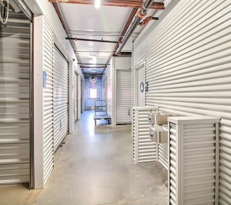 Interior storage hallway of StorQuest Express - Self Service Storage in Woodland