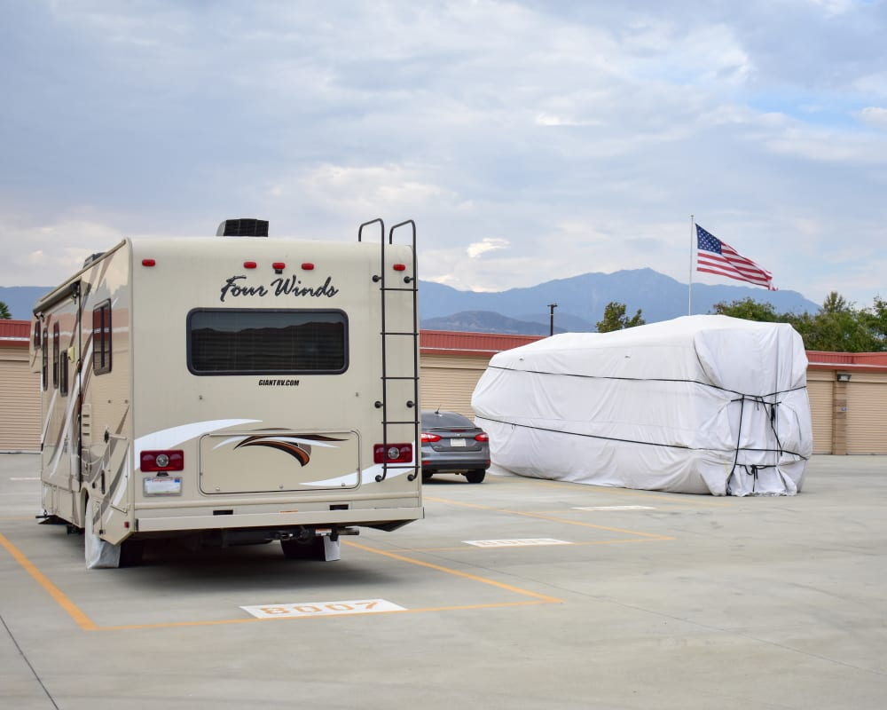 RV and boat storage at STOR-N-LOCK Self Storage in Redlands, California