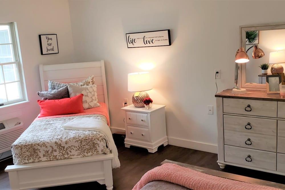 Wood Haven Senior Living offers a Bedroom in Tewksbury, Massachusetts